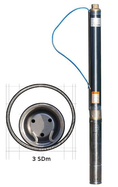 IBO 3SDm33 Csőkút szivattyú, mélykút, csőszivattyú 230V