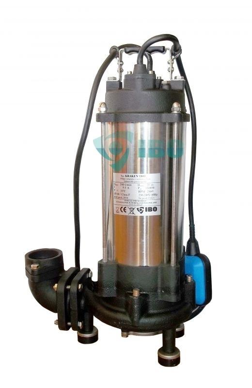 IBO KRAKEN 1800DF 400V Vágószerkezettel szennyezett víz és szennyvíz szivattyú